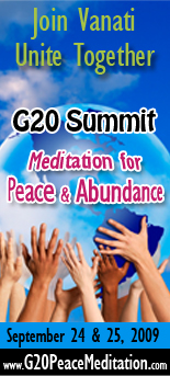 Vanati Pittsburgh G20 Meditation for Peace and Abundance